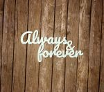 "Надпись ""Always and forever"" [1]"